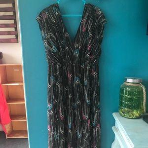 Lanebryant peacock dress 18/20 maxi